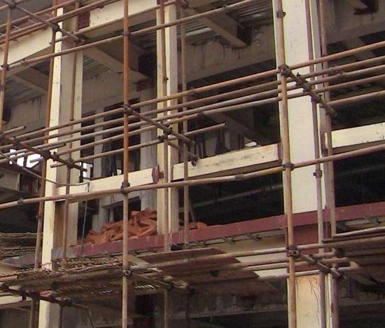 重庆钢管外墙架搭设
