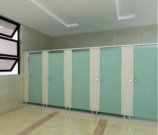 公共卫生间隔断的安装过程