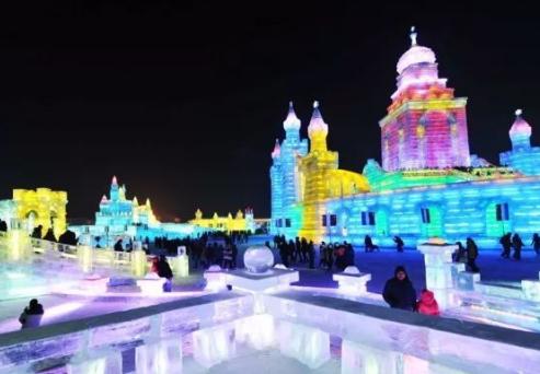 最美的冰雕节---哈尔滨冰雕节