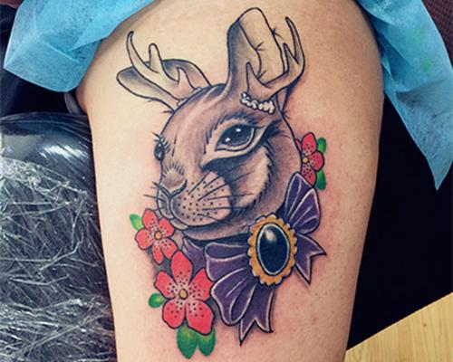 梅花鹿纹身