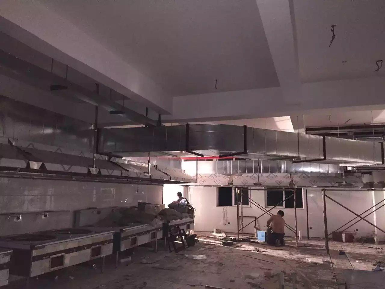 重庆涪陵巴蜀中学食堂排烟工程