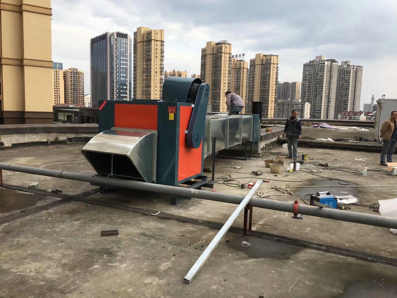 四川内江第一办公区食堂厨房排烟管道工程
