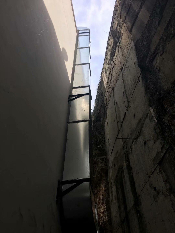 重庆鱼洞优悦城商业主烟道安装工程