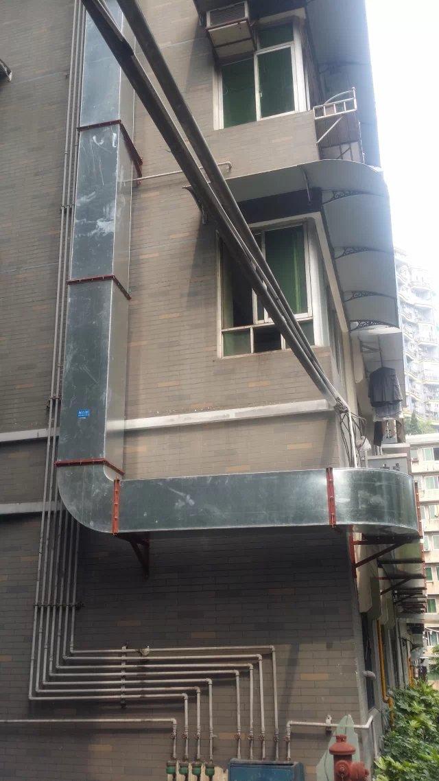 重庆都市花园商业门面主烟道安装工程