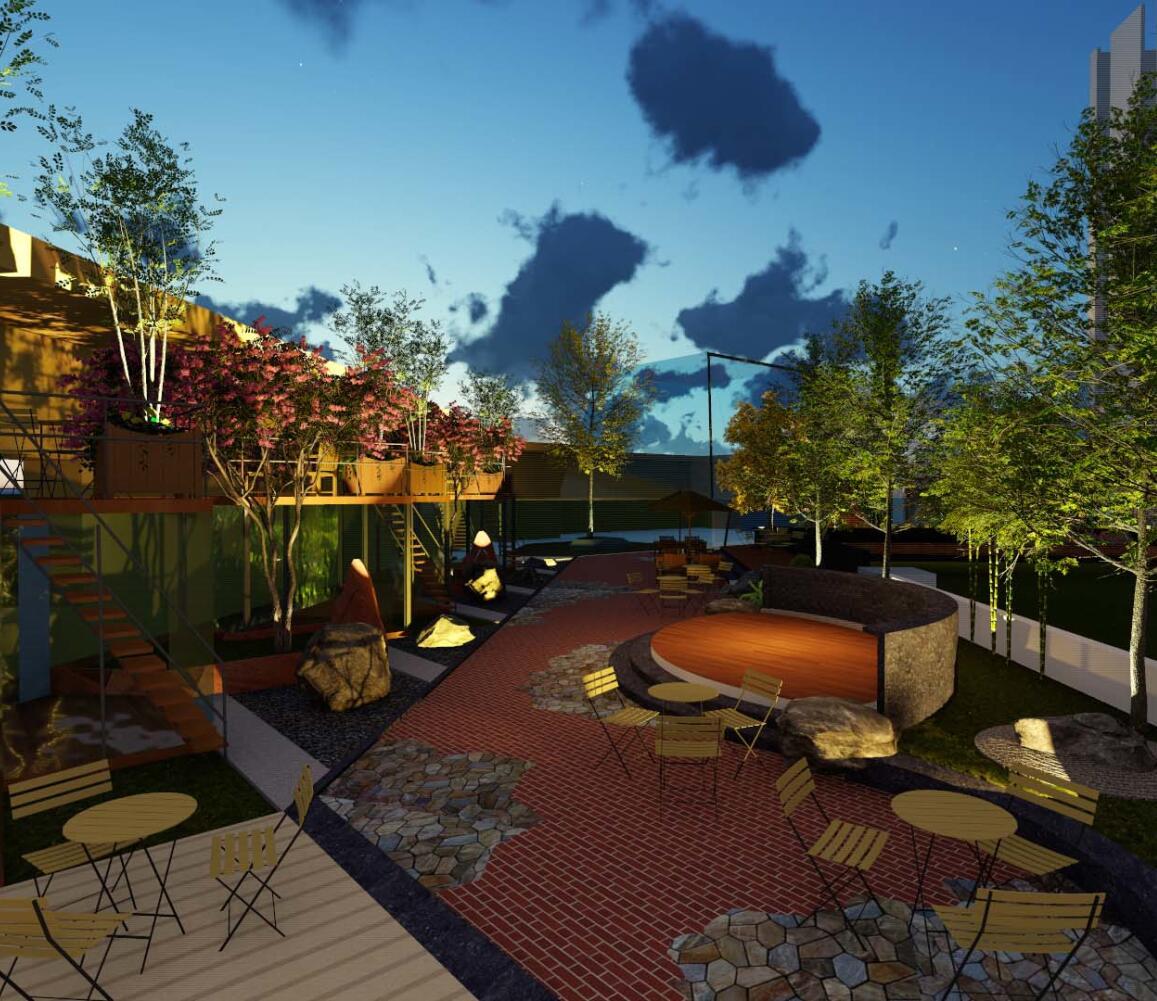 两岸春城屋顶花园方案