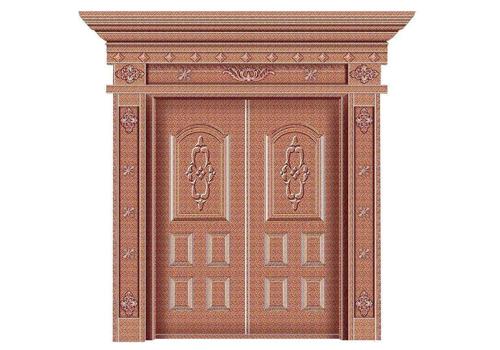 重庆某小区铜门安装案例