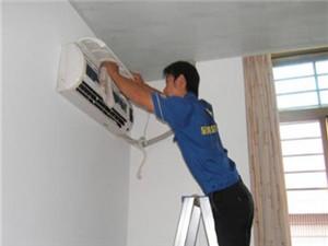 挂式空调安装现场