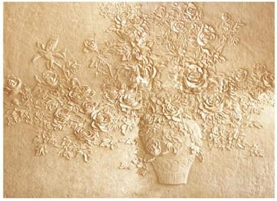 植物浮雕壁画