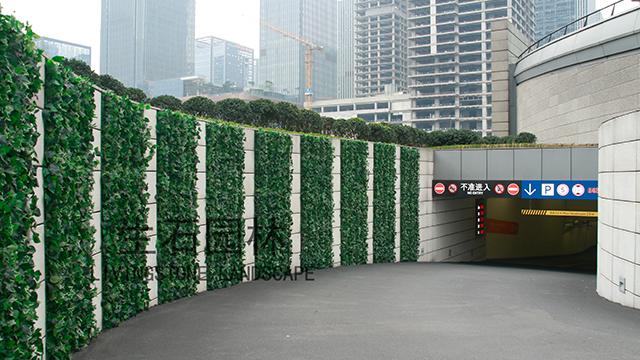 WFC停车库出入口仿真植物墙---其他仿真植物墙