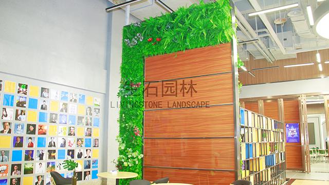 大学城仿真植物墙---明筑牌仿真植物墙