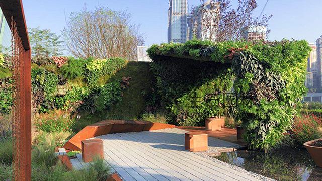 花博会展览观光一角---生态垂直绿化