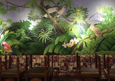 餐厅墙面彩绘