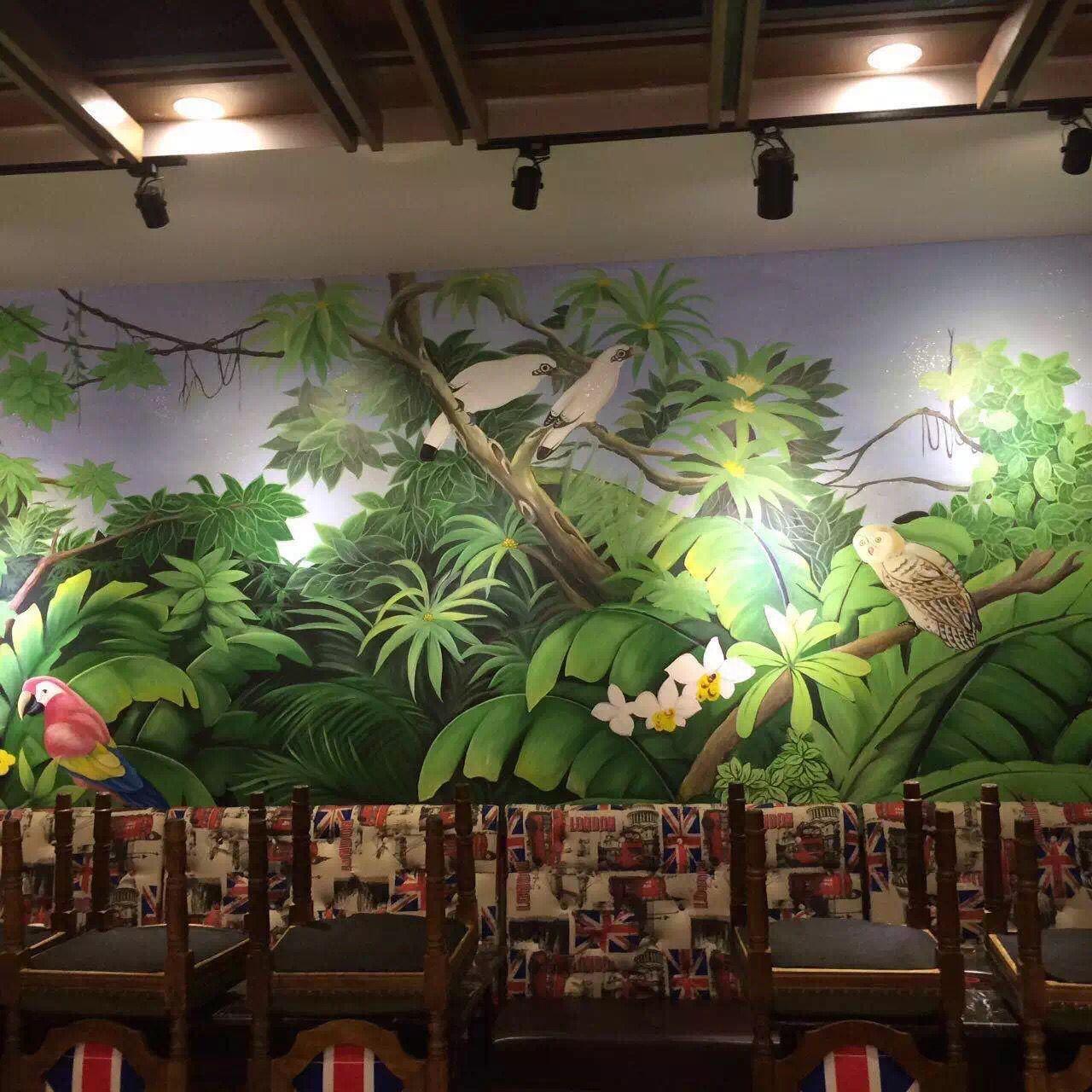 湖南餐厅墙面彩绘价格