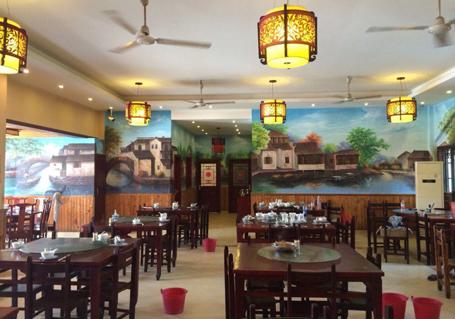 餐厅墙壁彩绘