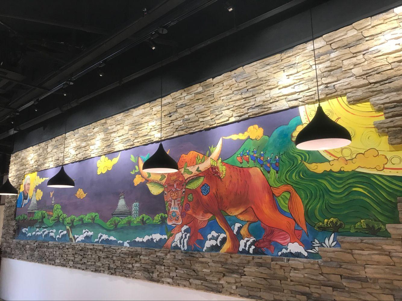 长沙餐厅彩绘墙面价格