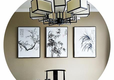 浅谈普洱家居空间各个位置的墙绘装饰画的选择技巧