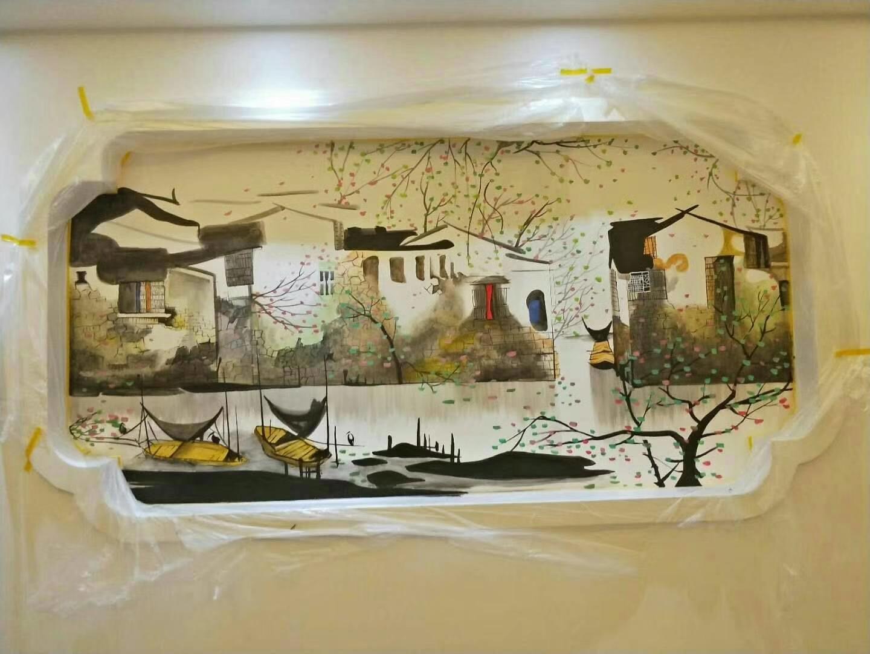 长沙客厅彩绘设计