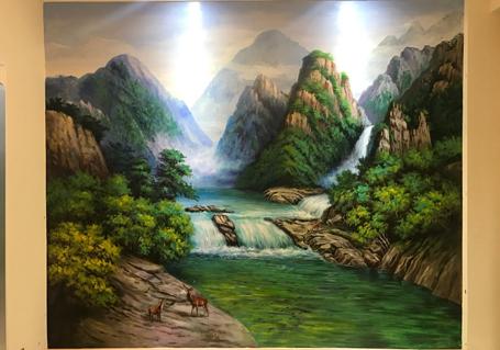 客厅墙面彩绘