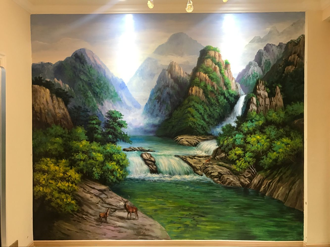 湖南客厅墙面彩绘画