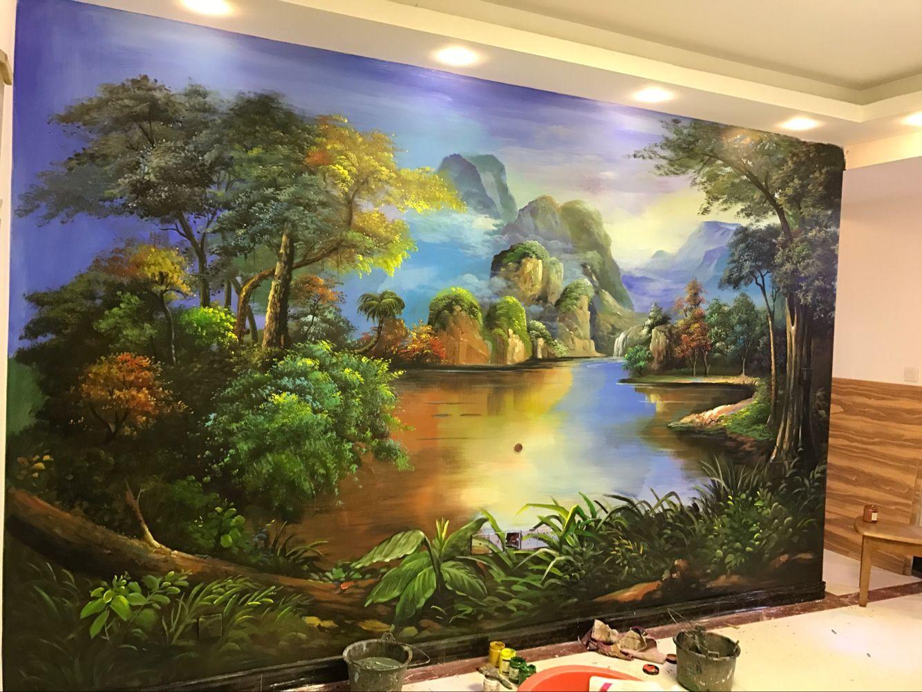 临沧墙绘装饰画