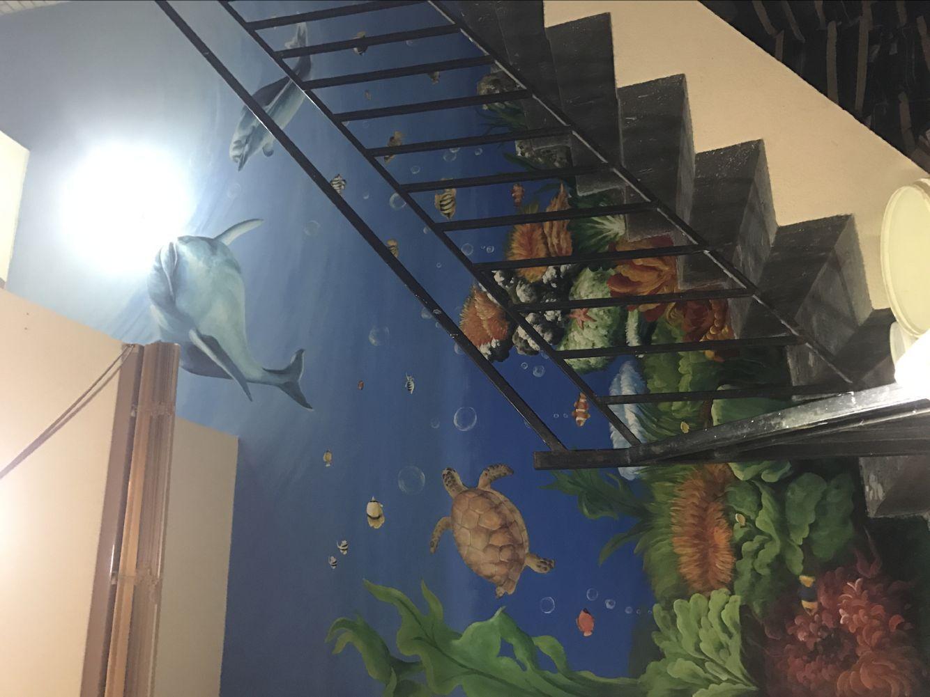 湖南家装背景墙彩绘