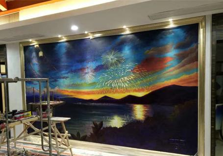 酒店彩绘墙