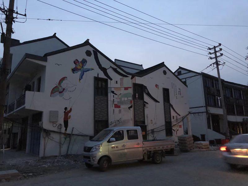 湖南乡村墙体彩绘设计