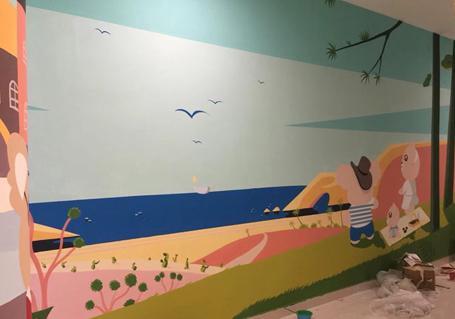 幼儿园教室墙绘