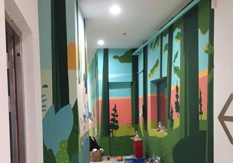 走廊卡通墙绘