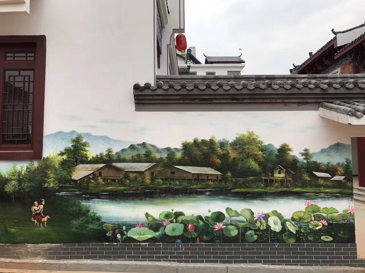 长沙文化墙彩绘