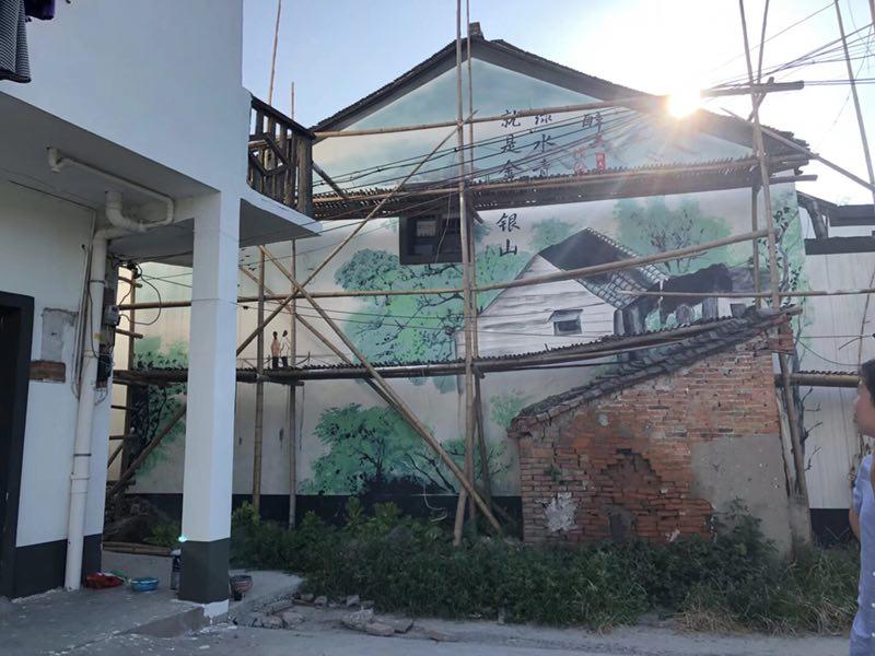 长沙最美乡村墙绘公司