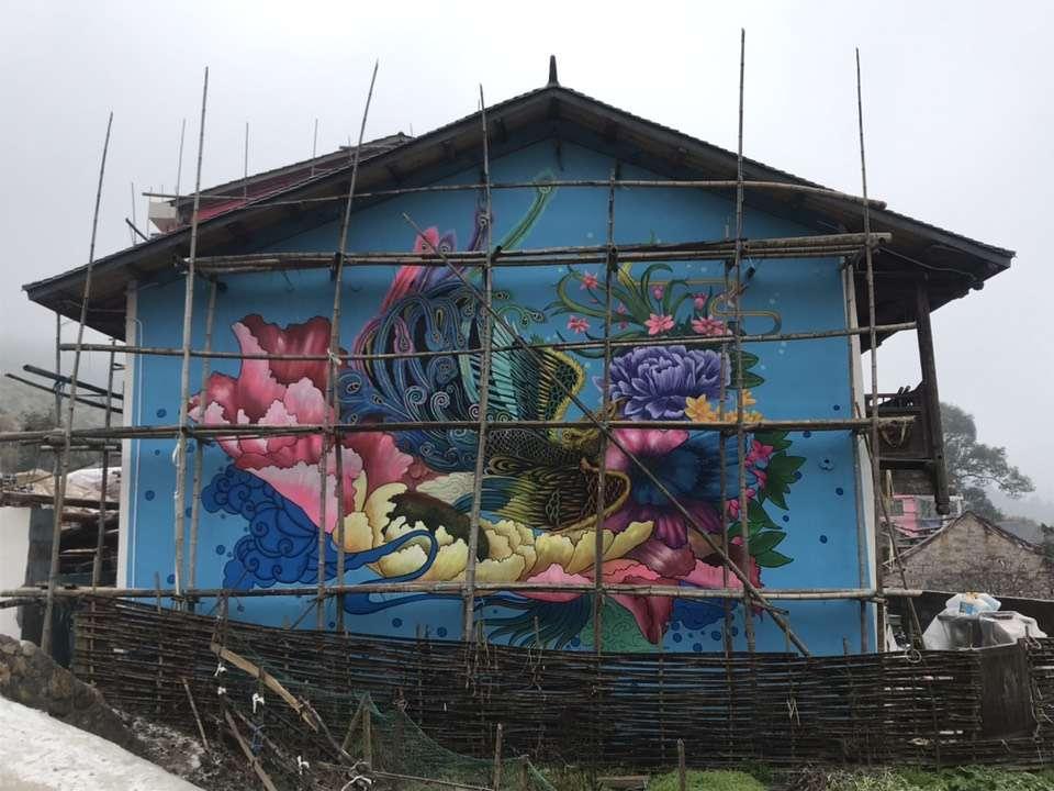 长沙农村彩绘墙装饰