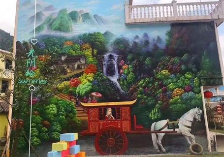 3d农村墙绘