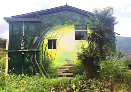 乡村墙体彩绘