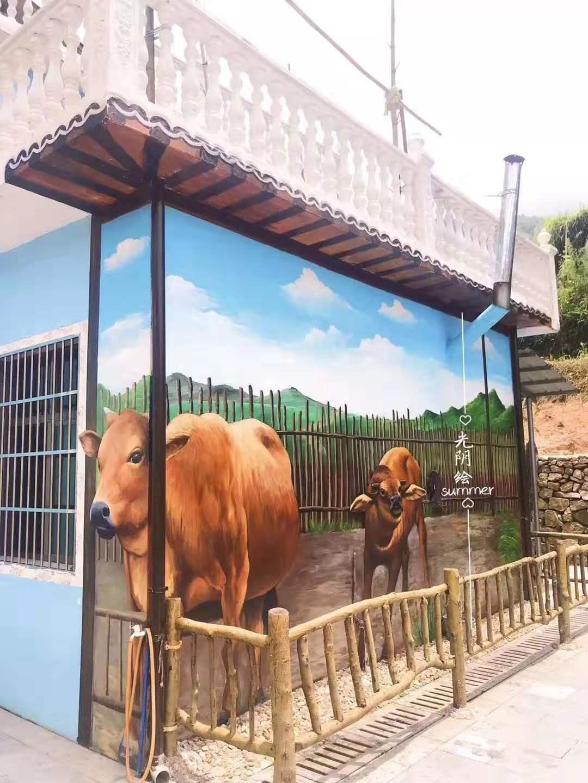 长沙美好乡村手绘墙价格