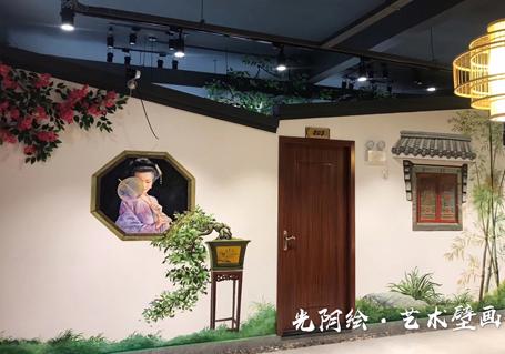 餐厅艺术壁画