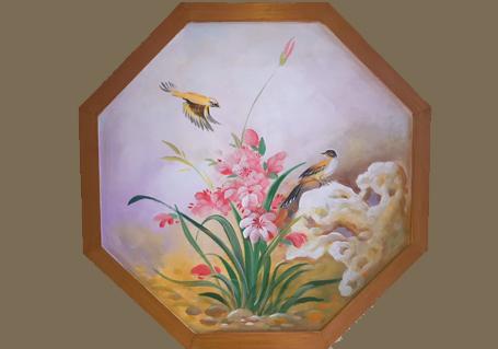 手绘餐厅壁画