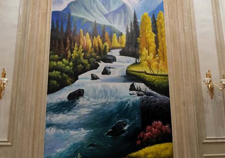 别墅装饰油画——家里一道靓丽的风景