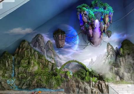 普洱室内彩绘墙