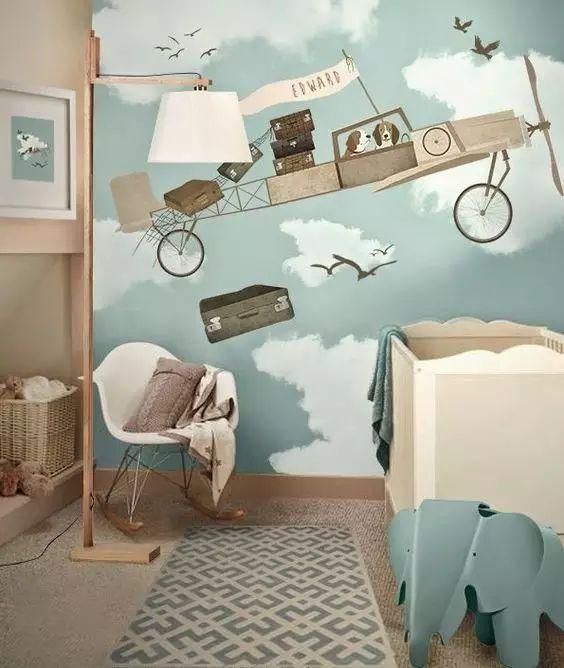用画笔,给自己的家涂上一幅墙绘吧