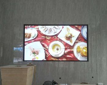 祁东县开福市场售楼部3*3专业拼接屏调试验收