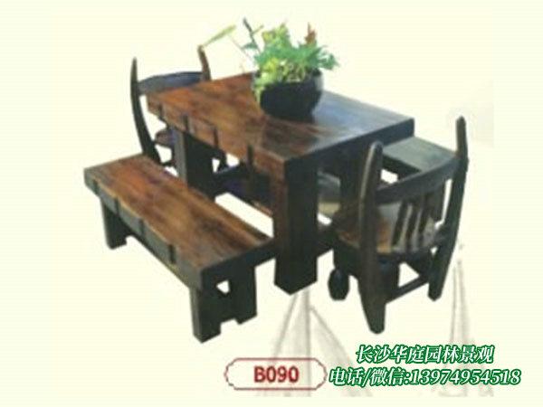 炭化木桌椅