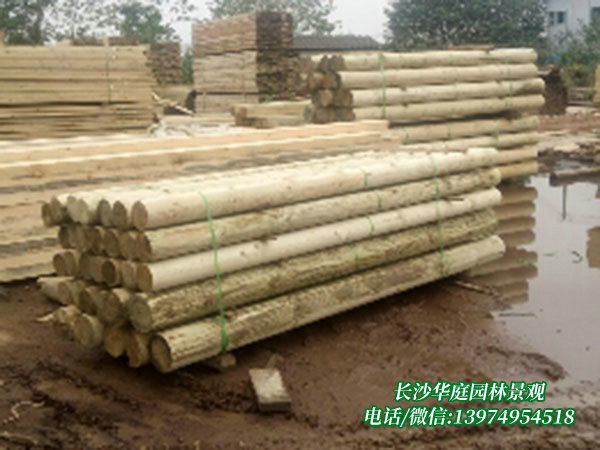 防腐木圆柱