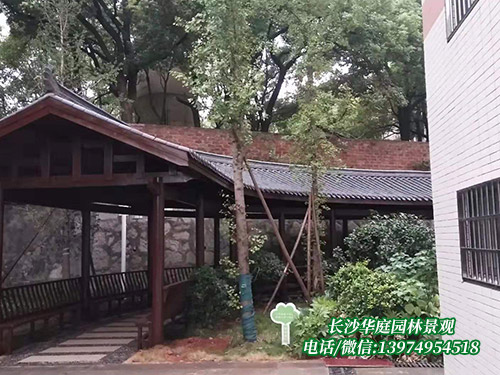 防腐木长廊4