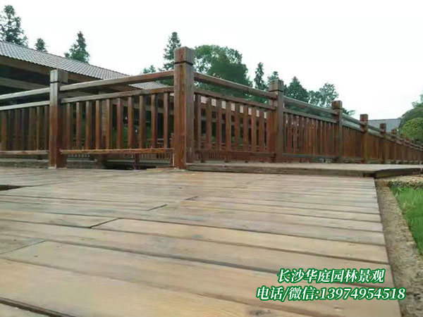 防腐木护栏4