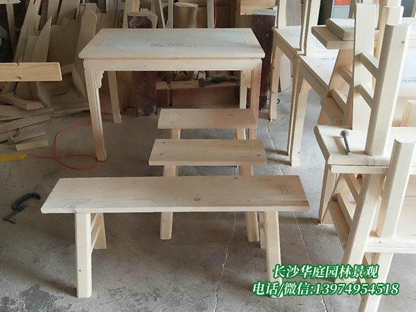 防腐木桌椅3