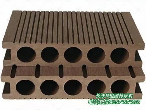 塑木圆孔地板