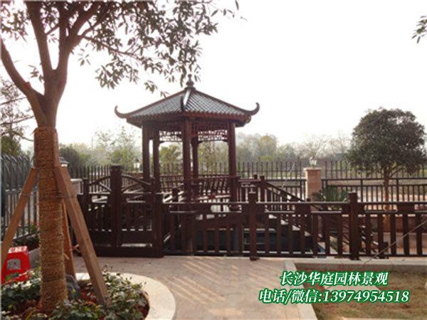 衡阳李总别墅花园凉亭护栏