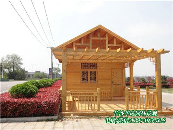 防腐木木屋工程(宁乡金洲湖公园)