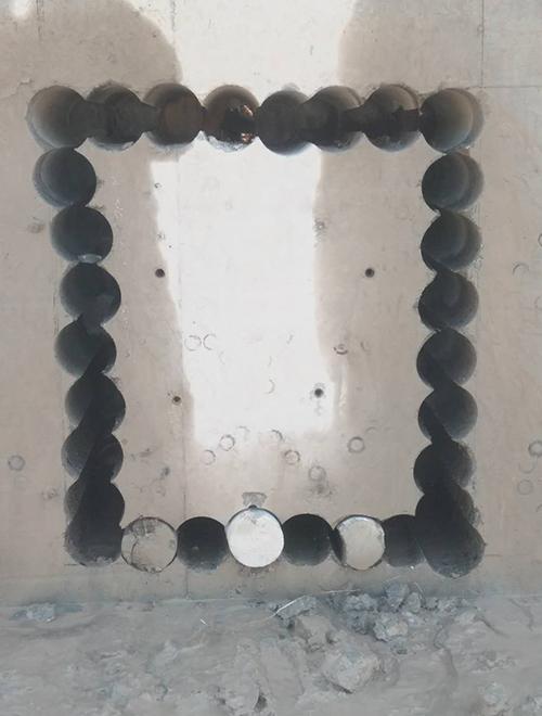 混凝土排孔切割施工